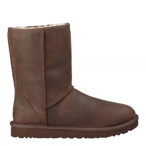 UGG Classic Short Leather Boots Brownstone Size 8
